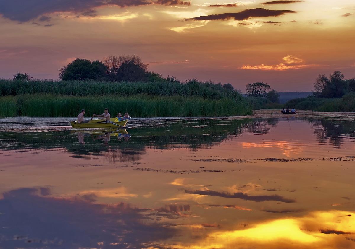"""фото """"Прогулка на закате"""" метки: пейзаж, закат"""