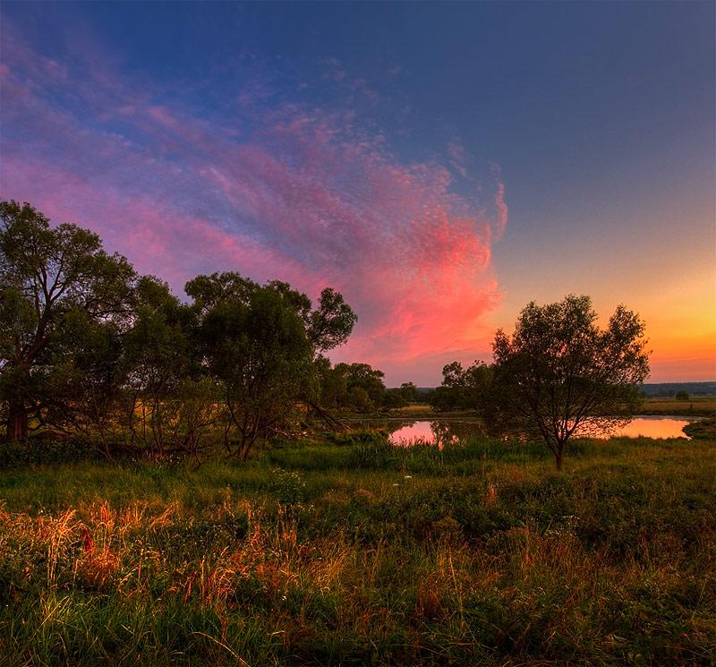 """фото """"Расписные небеса"""" метки: пейзаж, закат"""