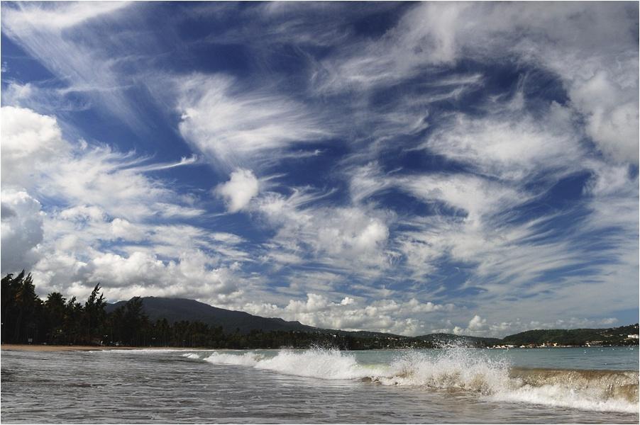 """фото """"Волны двух океанов"""" метки: пейзаж, вода, облака"""