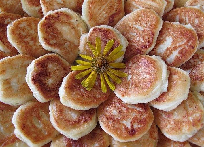 """фото """"Сырничный цветочек на завтрак"""" метки: ,"""