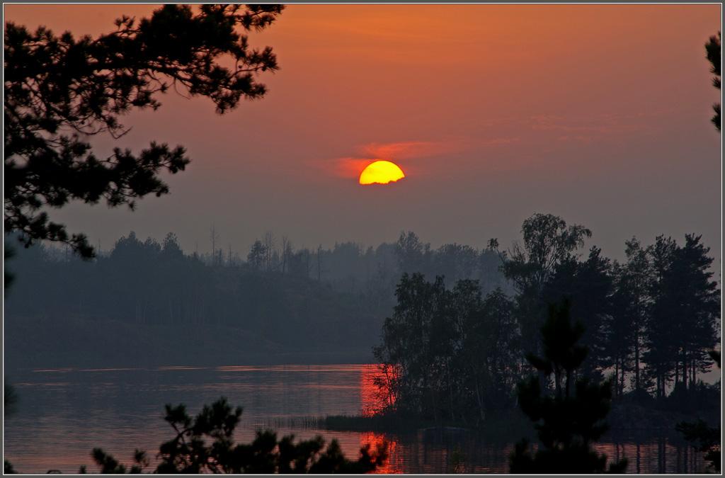 "фото ""..последний закат"" метки: пейзаж, закат, лето"