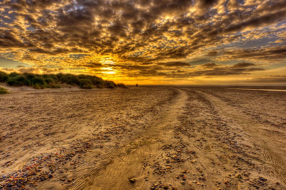 "фото ""Golden Morning At The Beatch"" метки: пейзаж, закат, лето"