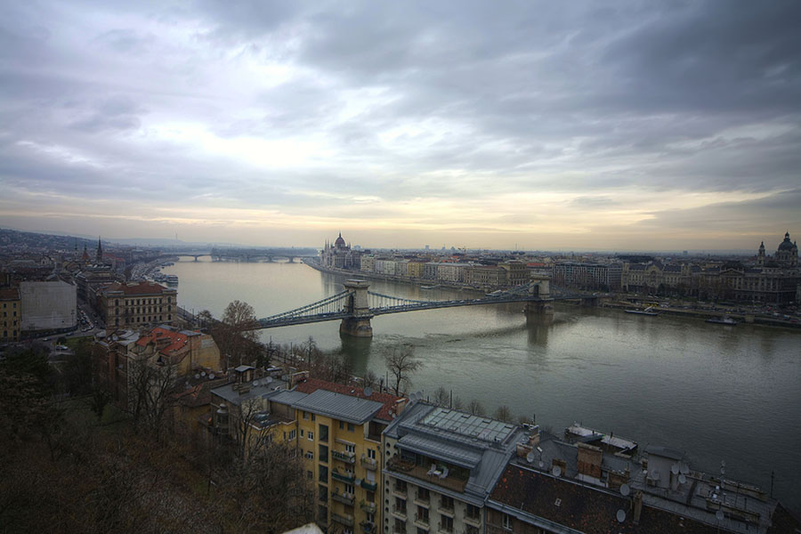 """фото """"Дунай. Февраль. Будапешт."""" метки: путешествия, пейзаж, Европа, зима"""