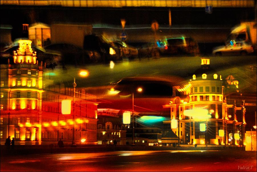 """фото """"night moscow"""" метки: город,"""