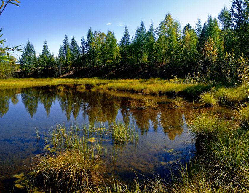 """фото """"Нережимное время. Август."""" метки: пейзаж, вода, осень"""