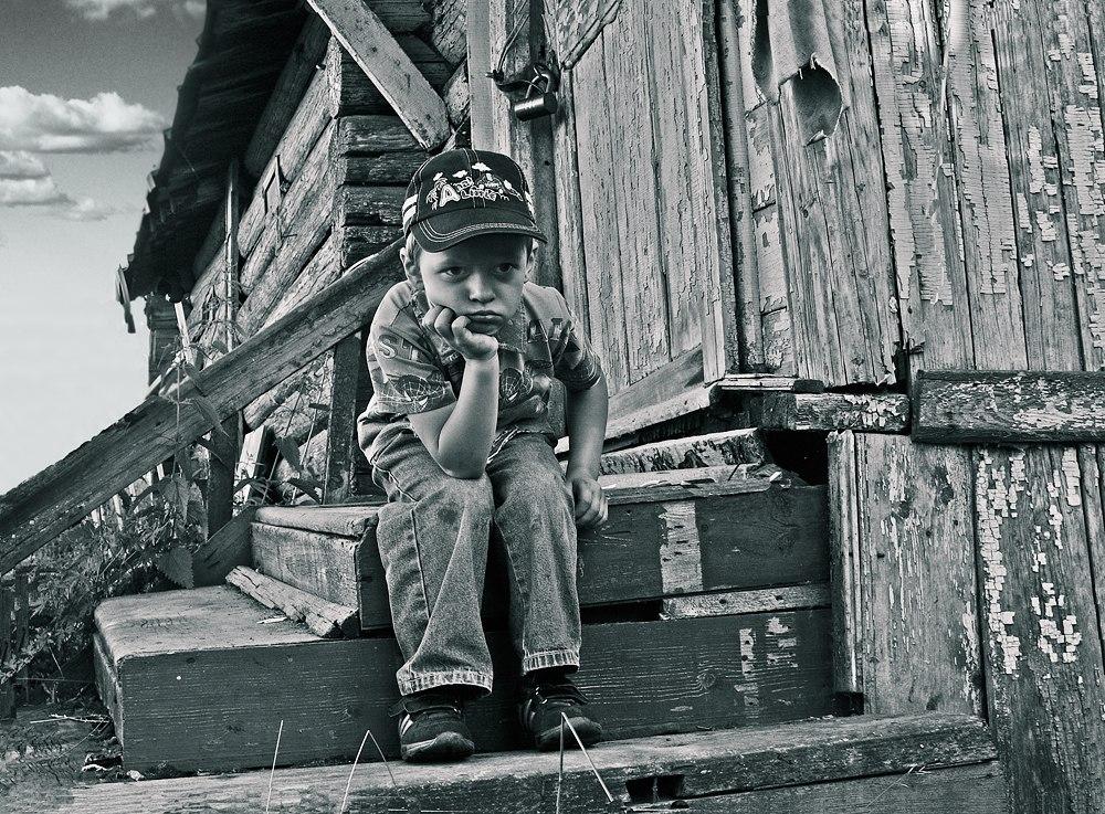 """фото """"Я - злой!"""" метки: портрет, черно-белые, дети"""
