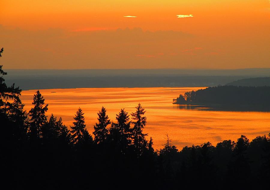 """фото """"Небесный пожар."""" метки: пейзаж, закат, облака"""