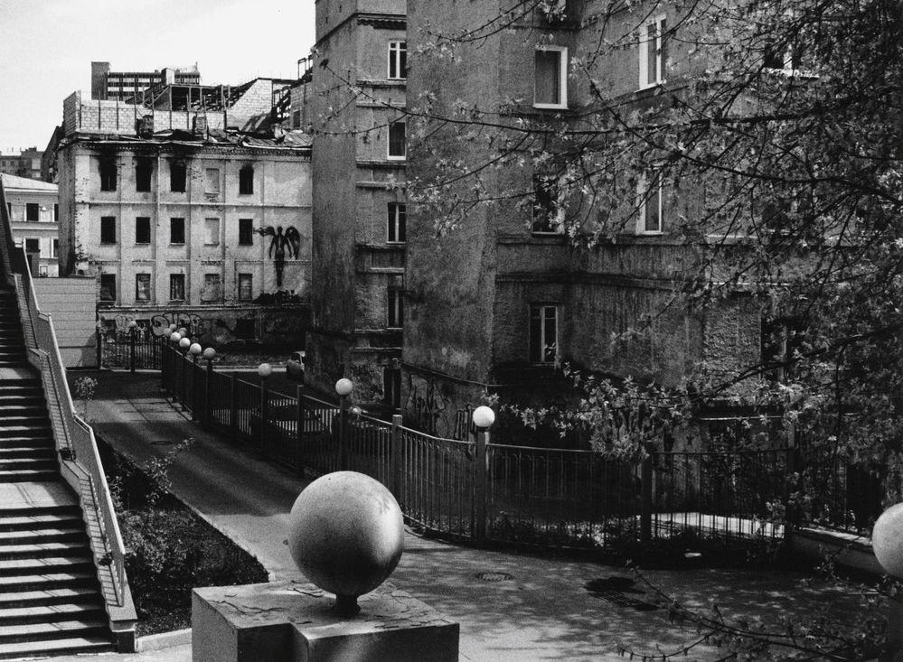 """фото """"Чёрный ангел"""" метки: город, черно-белые,"""