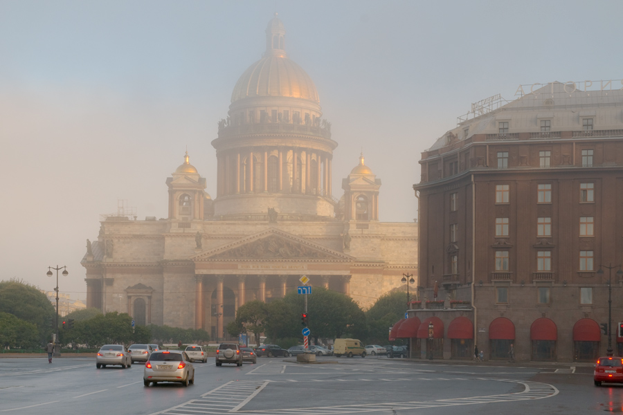 "фото ""Туман"" метки: архитектура, пейзаж,"