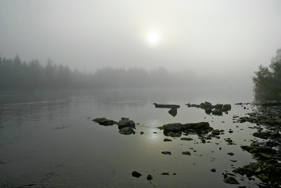 """фото """"Туманное утро."""" метки: пейзаж, вода, осень"""
