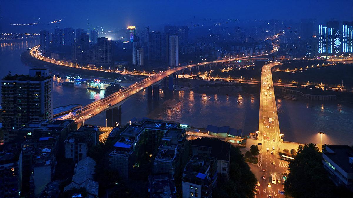 """фото """"Чунцинские мосты"""" метки: город, путешествия, Азия"""