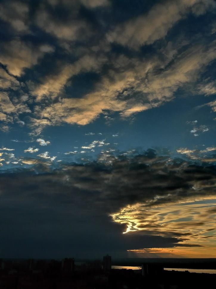 """фото """"Небесная охота"""" метки: пейзаж, закат"""