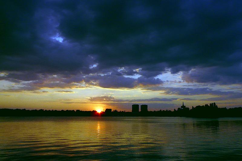 "фото ""Sunset in september II / Закат в сентябре"" метки: пейзаж, вода, закат"