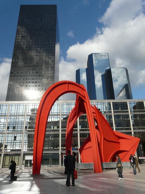 "фото ""Alexander Calder "" Stabile"".  La Defance . Paris."" метки: архитектура, путешествия, пейзаж, Европа"