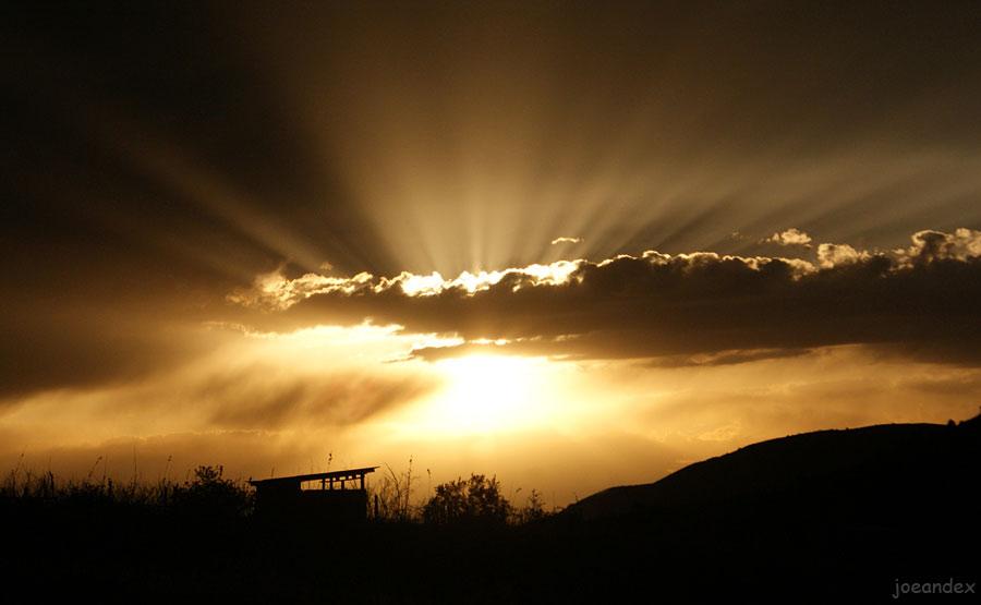 "фото ""Закатное солнышко"" метки: пейзаж, горы, закат"