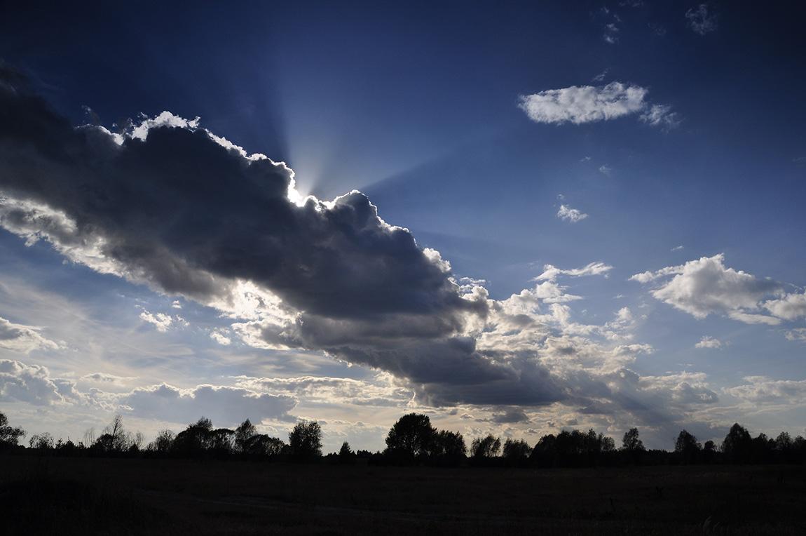 """фото """"Небесное свечение"""" метки: пейзаж, лето, облака"""
