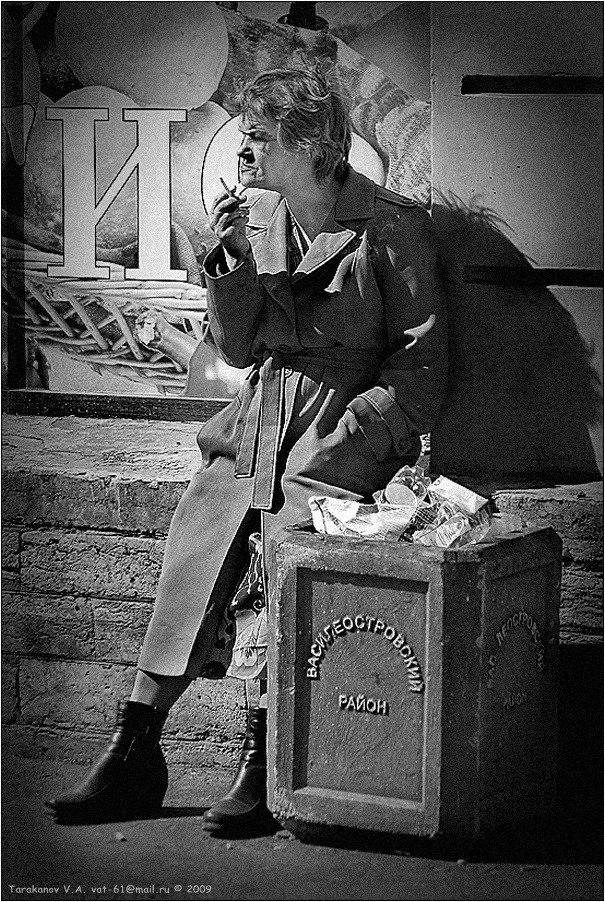 """фото """"ПРО НОВЫЕ БОТИЛЬОНЫ И ЛЮБОВЬ К КУРЕНИЮ В ВАСИЛЕОСТРОВСКОМ РАЙОНЕ....."""" метки: портрет, жанр, женщина"""