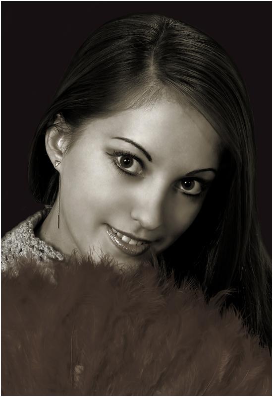 """фото """"портрет девушки с веером"""" метки: портрет, женщина"""