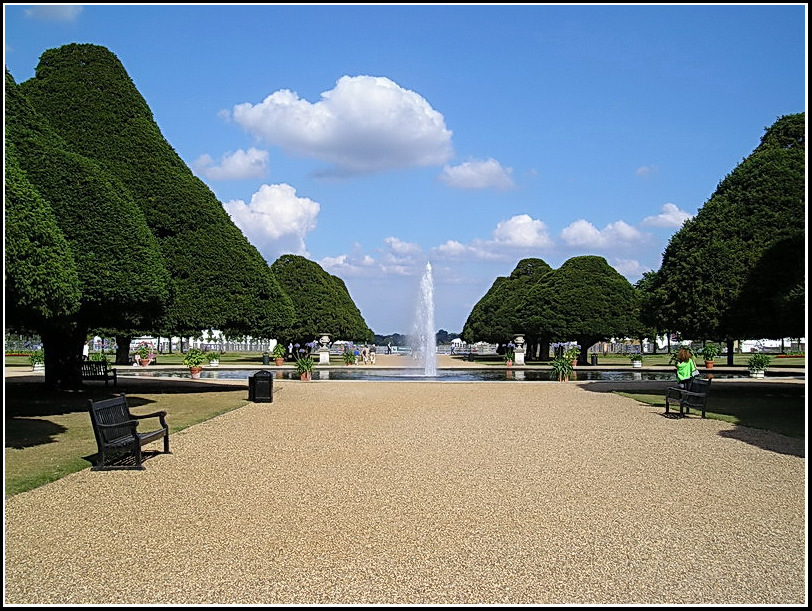 "фото ""Hampton Court park"" метки: путешествия, пейзаж, Европа, облака"