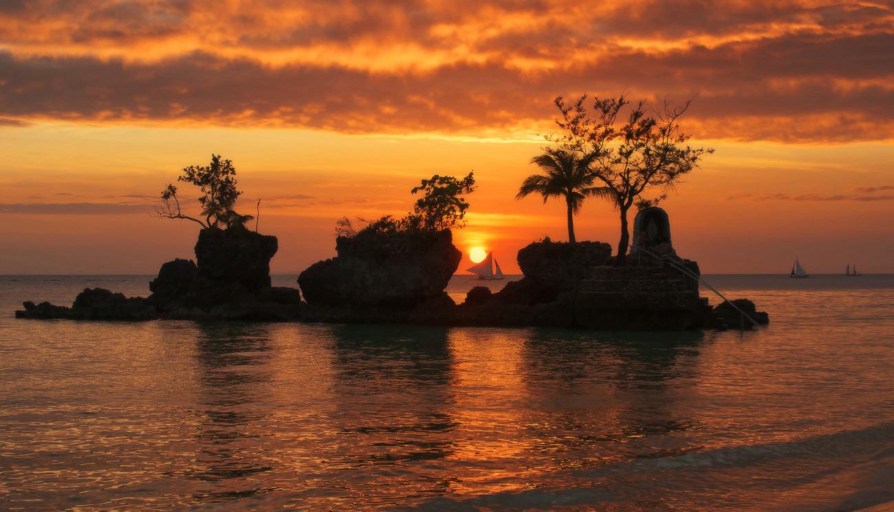 "фото ""Золотое море"" метки: пейзаж, путешествия, Азия, закат"