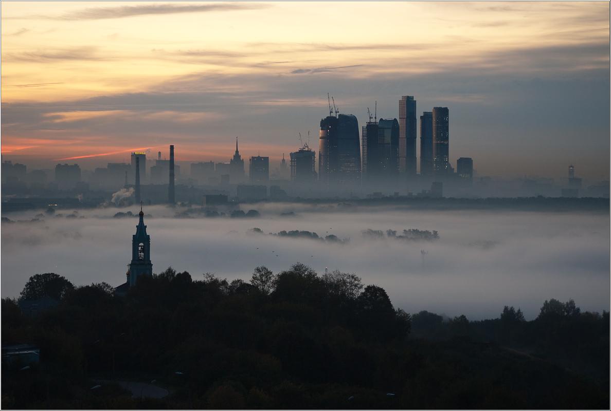 """фото """"Утром осенним"""" метки: пейзаж, закат"""