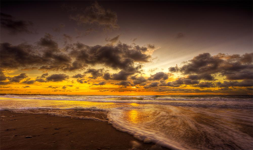 "фото ""Sunset..."" метки: пейзаж, вода, закат"