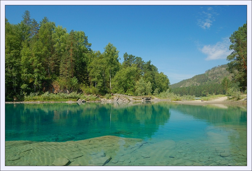 "фото ""Голубое озеро"" метки: пейзаж, вода, лес"