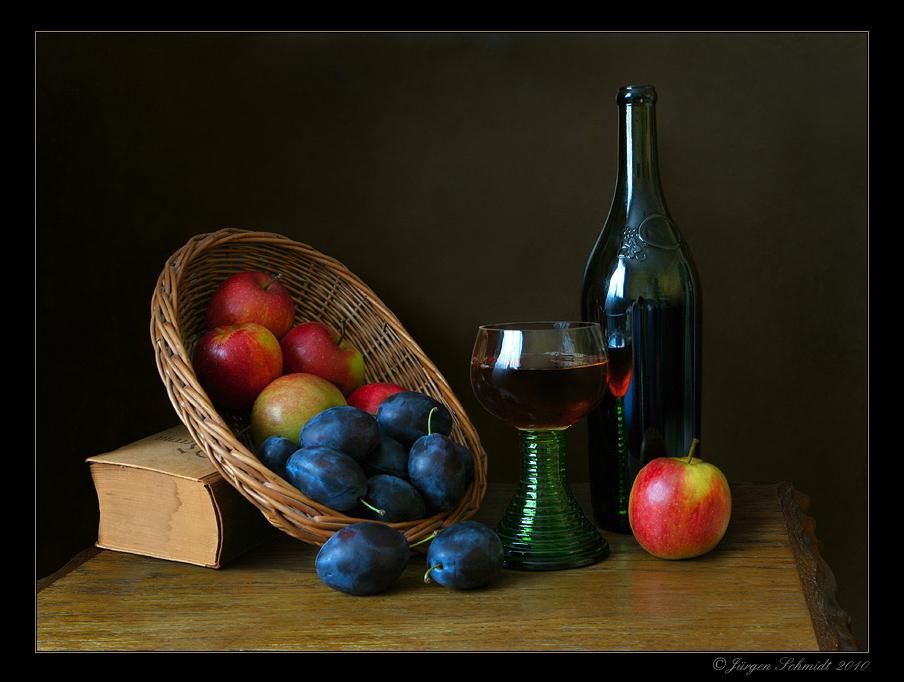 """фото """"Вино и сливы"""" метки: натюрморт, разное,"""