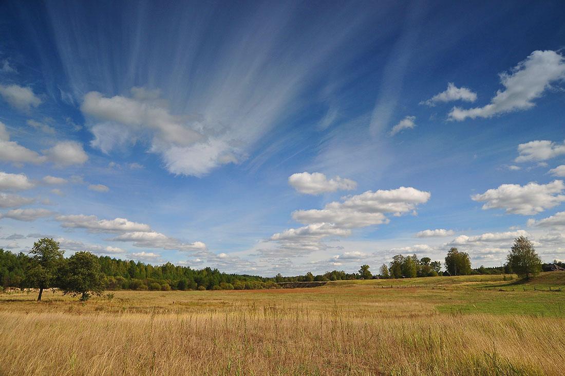 """фото """"Веерное небо"""" метки: пейзаж, лето, облака"""