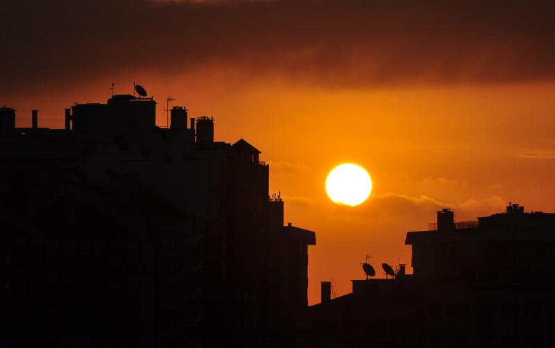 """фото """"MY STREET"""" метки: пейзаж, город, закат"""