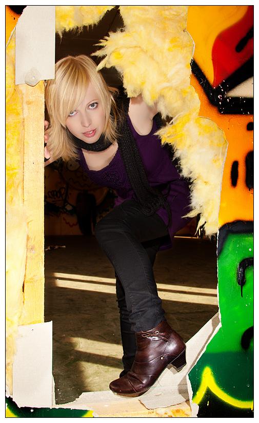 """фото """"Hole in the wall"""" метки: портрет, женщина"""