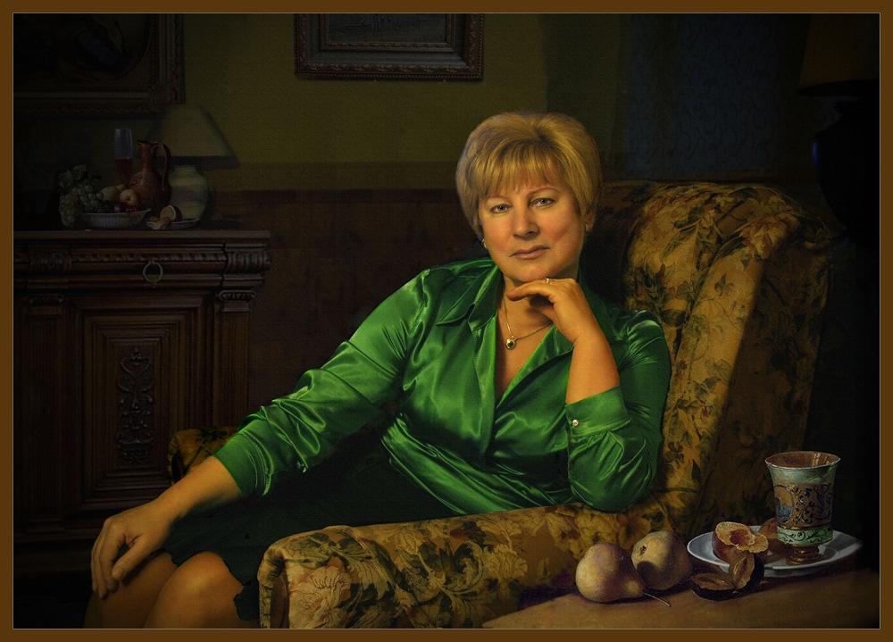 """фото """"Портрет Елены Ивановны Стрельниковой"""" метки: портрет, фотомонтаж, женщина"""