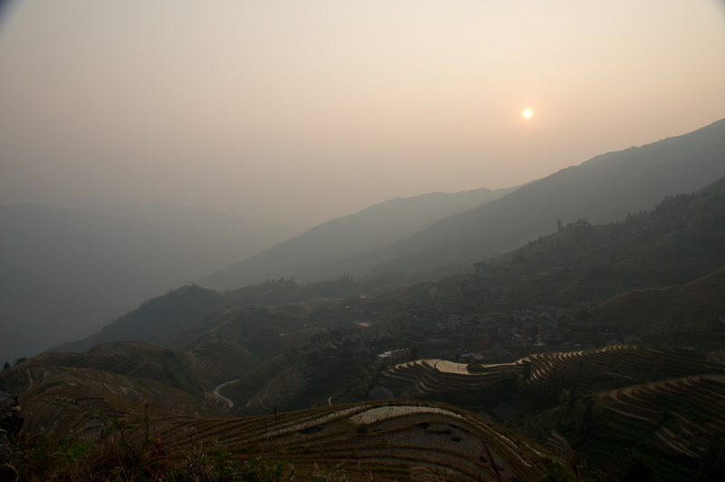 """photo """"Dusk, beauty LONGJI Terraced Fields"""" tags: travel, landscape, Asia, mountains"""