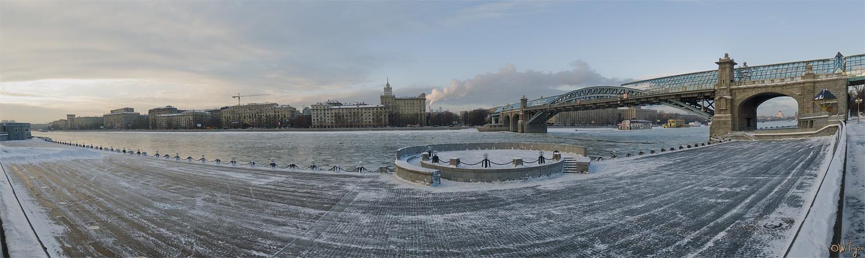 """фото """"Вокруг круга"""" метки: пейзаж, панорама, зима"""