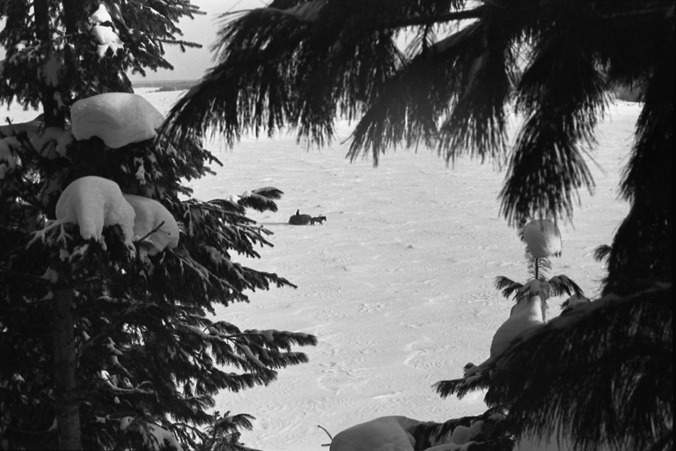 "фото ""На Оби"" метки: пейзаж, черно-белые, зима"