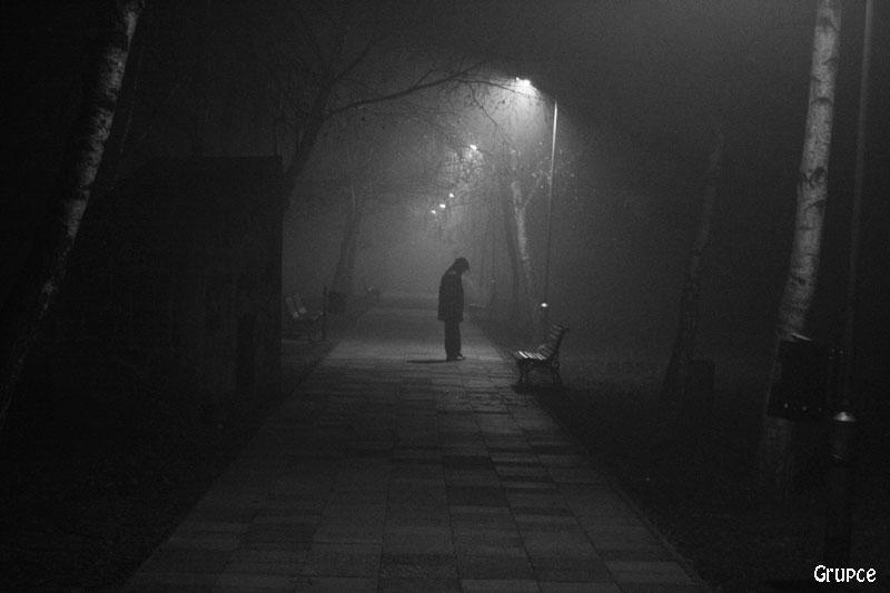 """фото """"In the Mist"""" метки: черно-белые, пейзаж, ночь"""