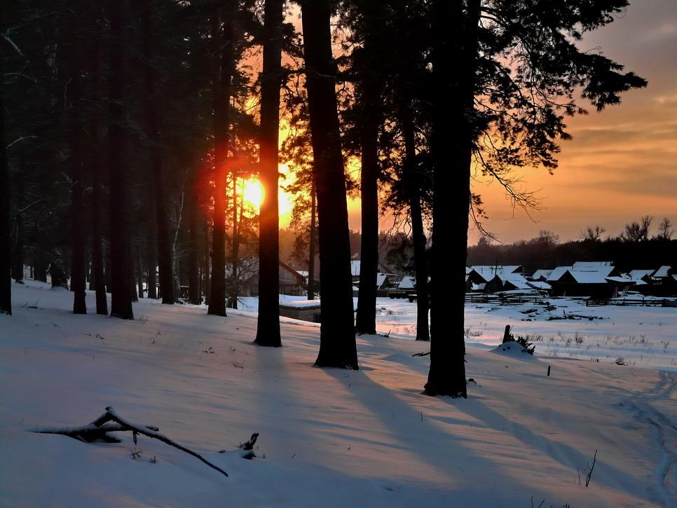 """фото """"Вечер перед Рождеством"""" метки: пейзаж, закат, зима"""