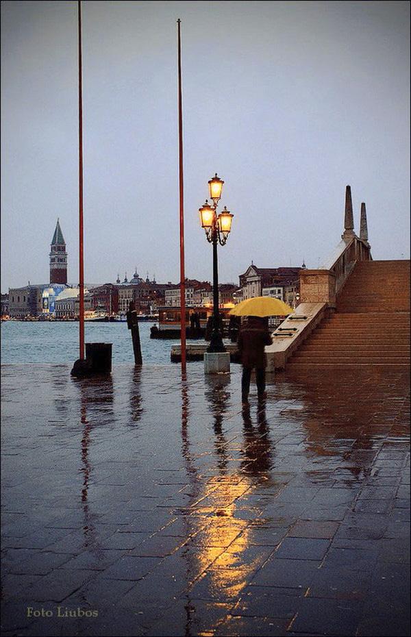 "фото ""Дождь в лагуне..Венеция"" метки: город,"