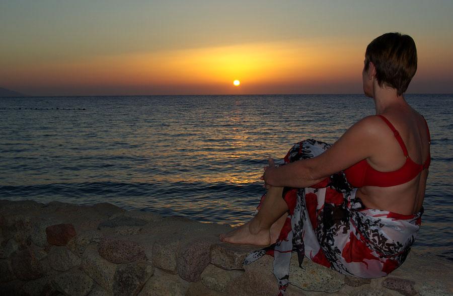 "фото ""Уходящее солнце"" метки: пейзаж, жанр, закат"