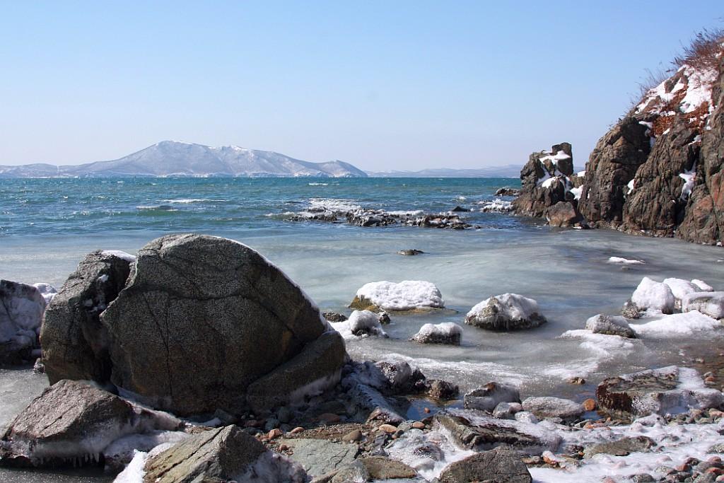 """фото """"Зимний вид на Японское море"""" метки: пейзаж, зима"""