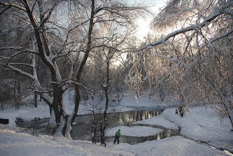 """фото """"Зимний мотив."""" метки: пейзаж, вода, зима"""