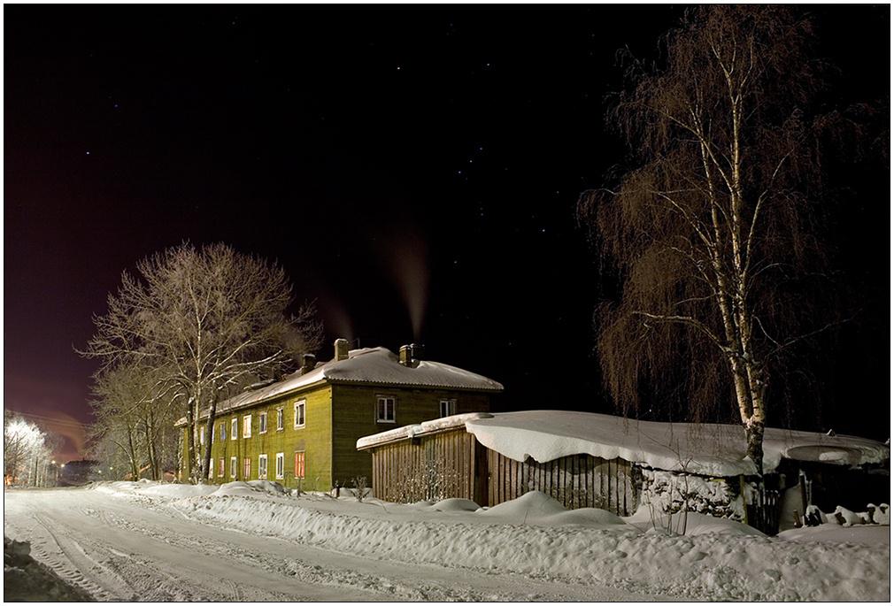 """фото """"Ночная окраина города"""" метки: пейзаж, зима, ночь"""