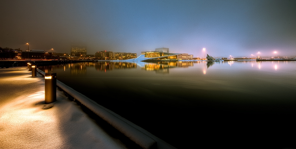 """photo """"Oslo By Night"""" tags: travel, Europe"""