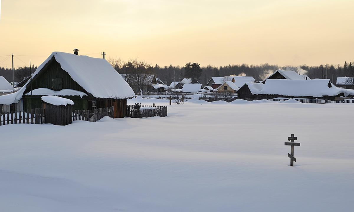 """фото """"Утро  в  деревне"""" метки: пейзаж, зима"""