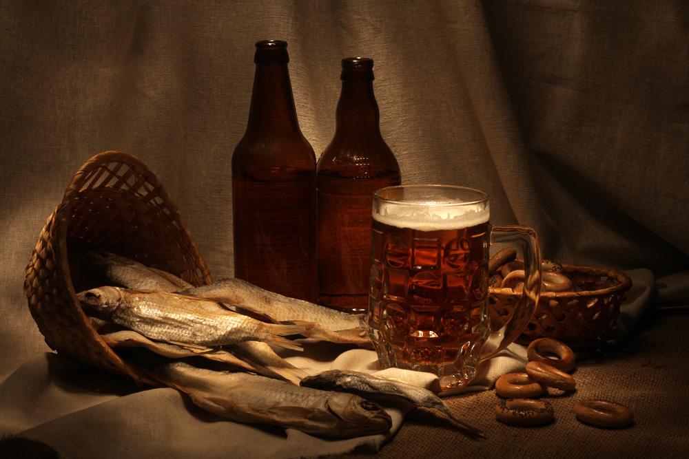 Крепированной, открытка пиво с рыбой