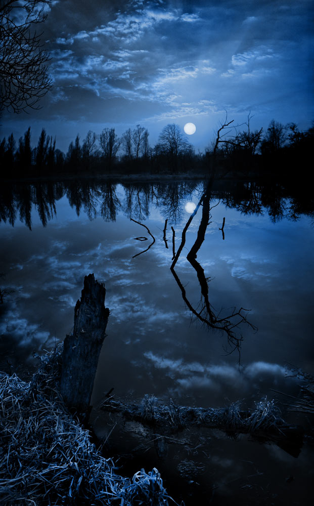 "photo ""Dreams of the old lake"" tags: landscape, night, water"