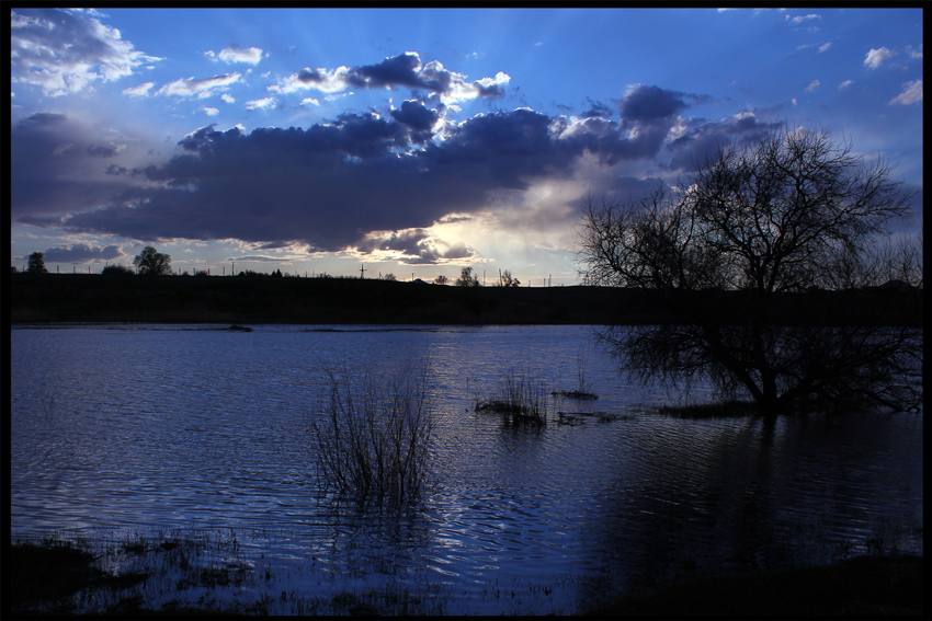 "фото ""Синий закат"" метки: пейзаж, закат"