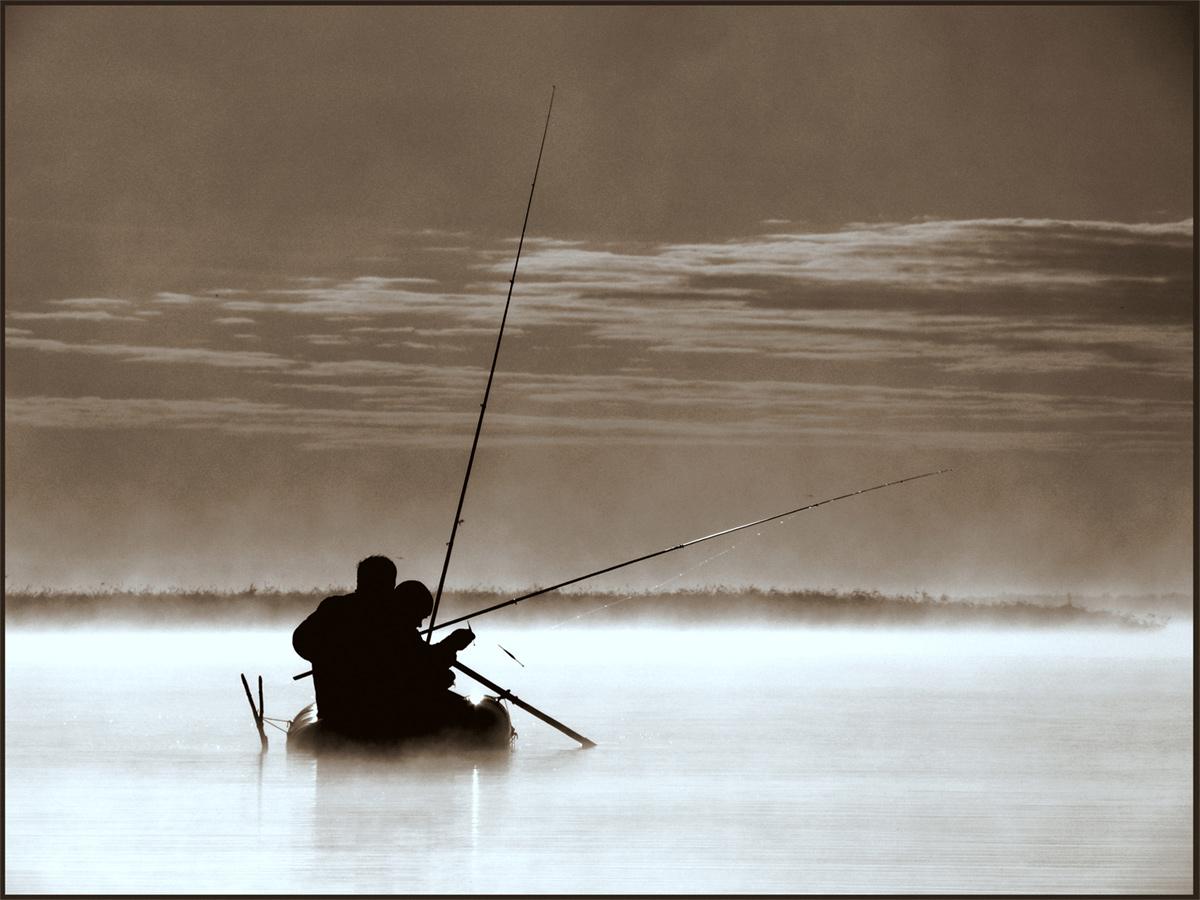 рыбалка на монументе