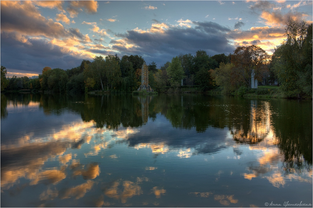 """photo """"***"""" tags: landscape, clouds, sunset, water"""