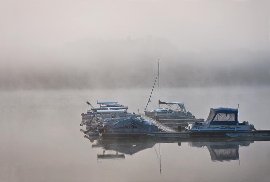 """фото """"Foggy Morning"""" метки: пейзаж, вода"""